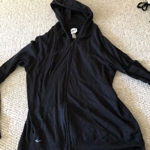 Plain black zip up sweatshirt